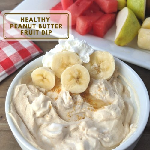 healthy peanut butter fruit dip low fat square
