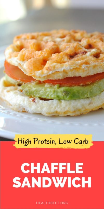 high protein low carb chaffle sandwich