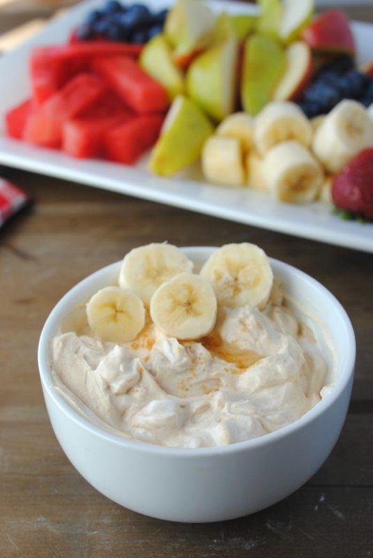 high protien low fat peanut butter fruit dip