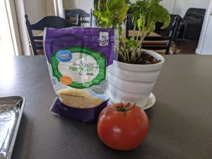 ingredients for baked parmesan tomato