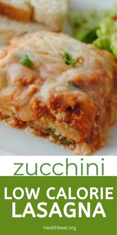 low calorie zucchini lasagna