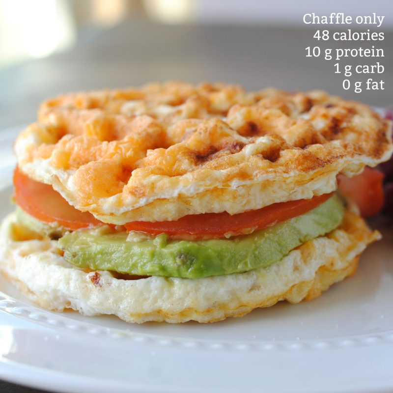low fat chaffle with nutrition calories and fat
