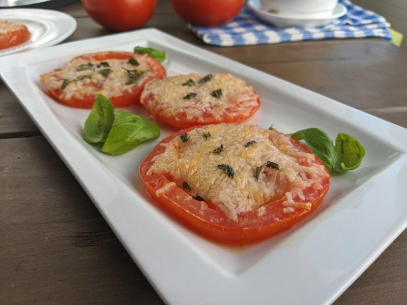 parmesan tomatoes with fresh basil