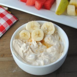 peanut butter fruit dip for apples low fat high protein