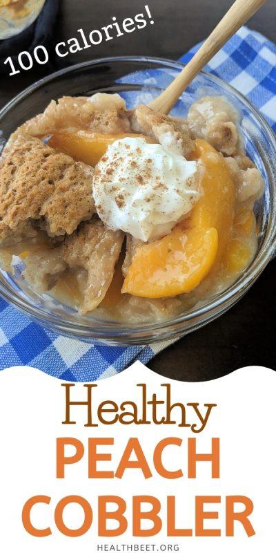 100 calorie healthy peach cobbler