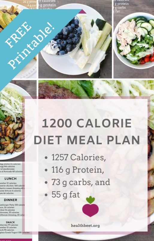 1200 calorie one day meal plan for weight loss