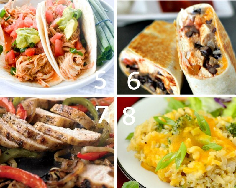 5-8 chicken dinners that are low in calories