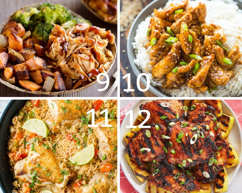 9-12 healthy low calorie chicken dinner recipes