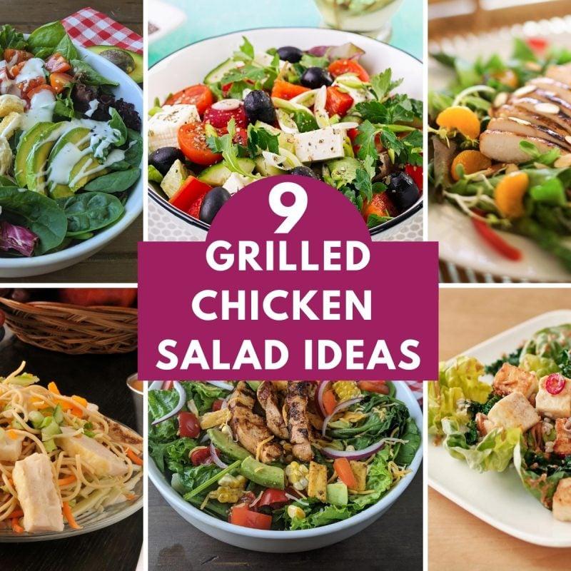 9 grilled chicken salad idea thumbnail