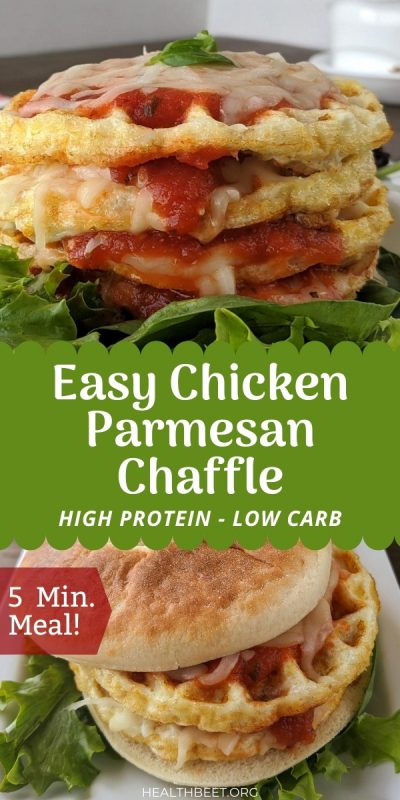Easy chicken parmesan Chaffle - ready in 5 minutes