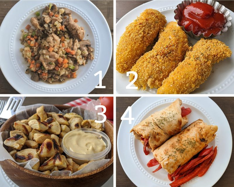 First four low calorie chicken dinner ideas
