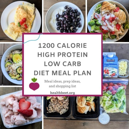 Free 1200 calorie high protein low carb meal plan with printable