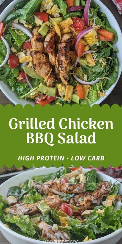Grilled chicken BBQ salad