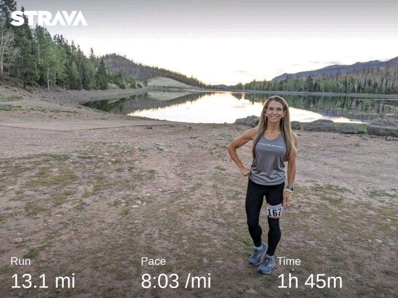 Strava half marathon run with Health Beets Amy Roskelley of Utah