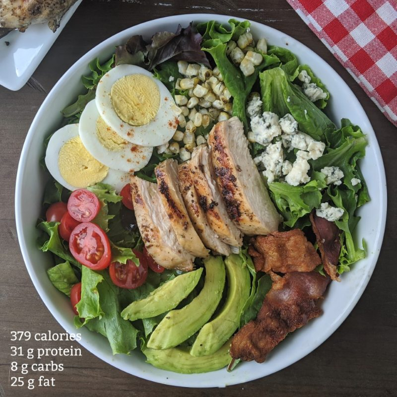 grilled chicken cobb salad with nutrition info calories and macros (Large)