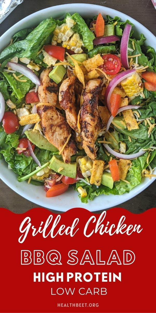 high protein meal idea grilled chicken bbq salad