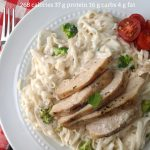 low calorie low carb chicken and broccoli alfredo