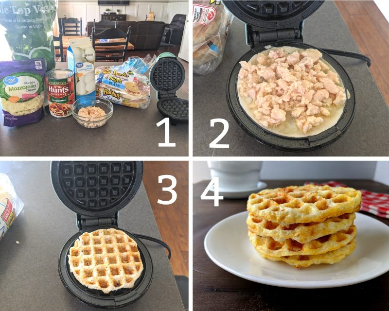 recipes steps for easy chicken parmesan chaffle