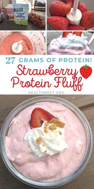The best TStrawberry protein fluff