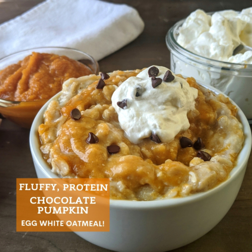 Fluffy pumpkin egg white oatmeal thumbnail