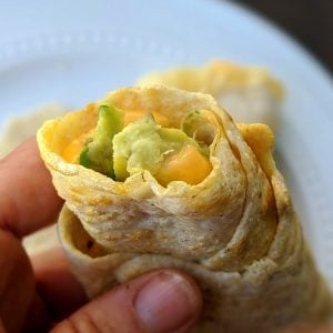 Oat and egg white wrap