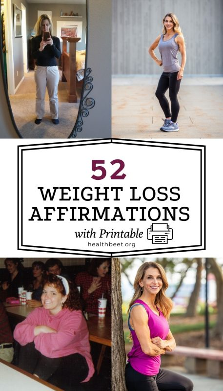 affirmations for weight loss with printable pdf download