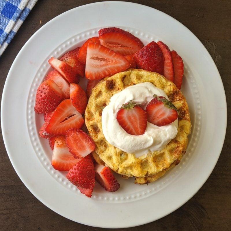 bright line breakfast protein waffles (