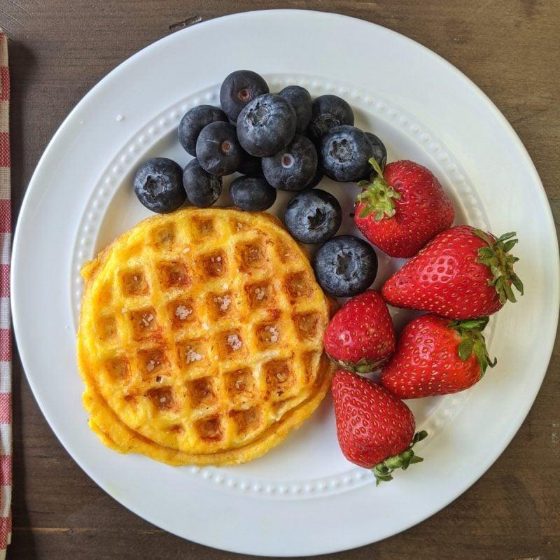 Chaffle breakfast