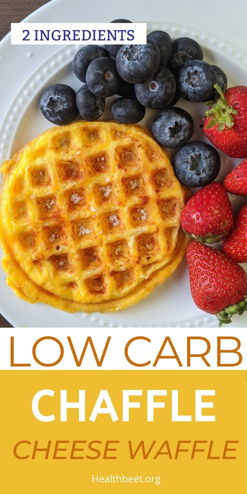 classic two ingredient low carb chaffle recipe