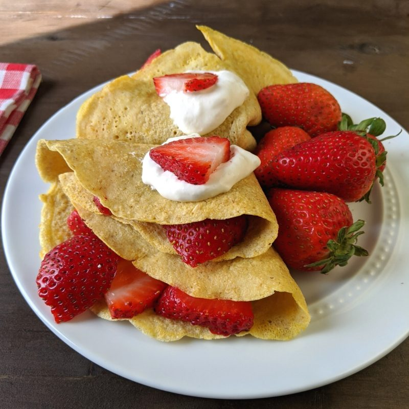 egg whites and oat crepes
