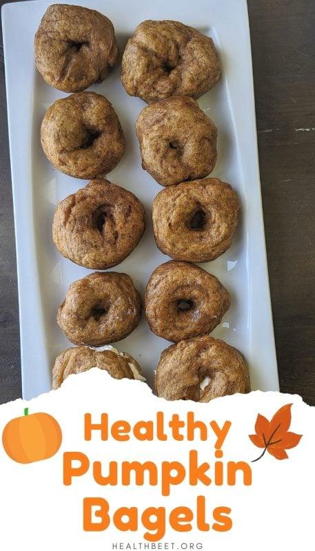 healthy homemade pumpkin bagels