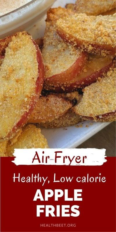 healthy low calorie air fryer apple fries