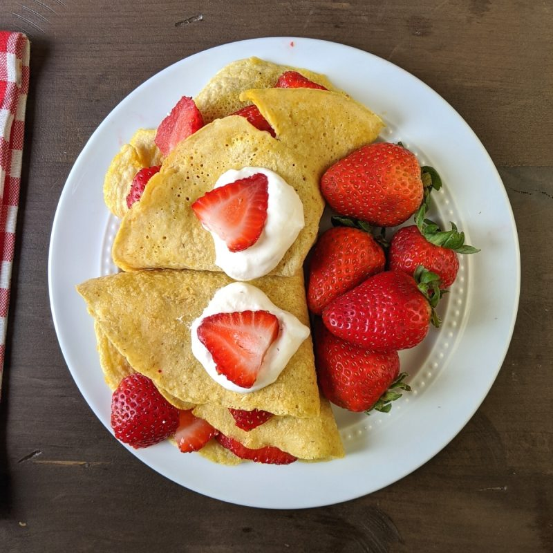 healthy strawberries and crepes gluten free recipe