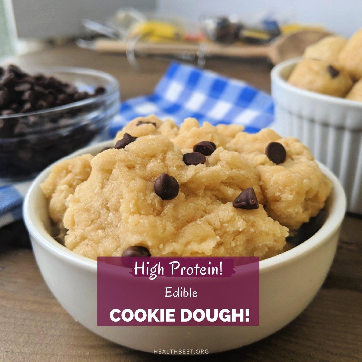 high protein edible cookie dough thumbnail