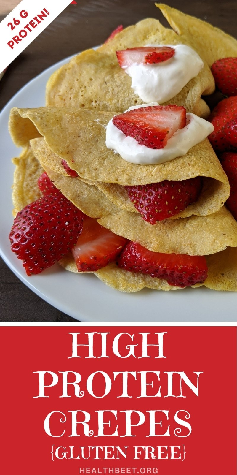 high protein gluten free crepes