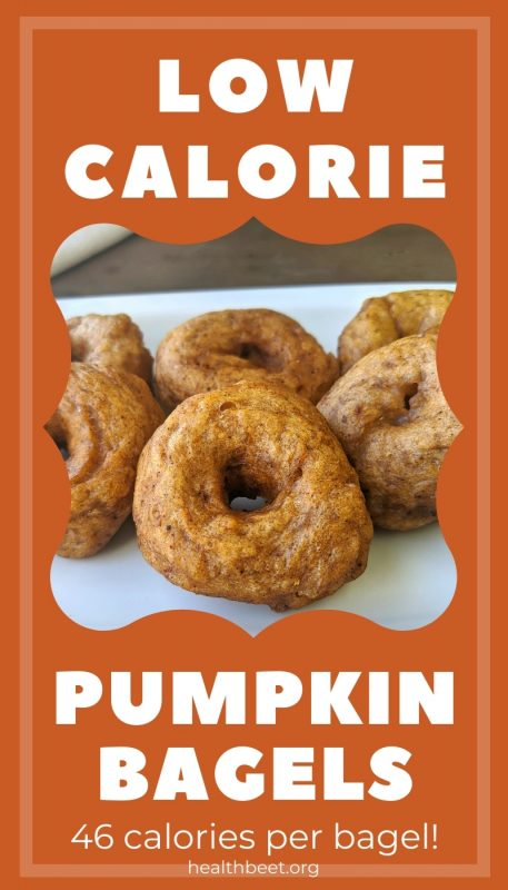 low calorie homemade mini pumpkin bagels