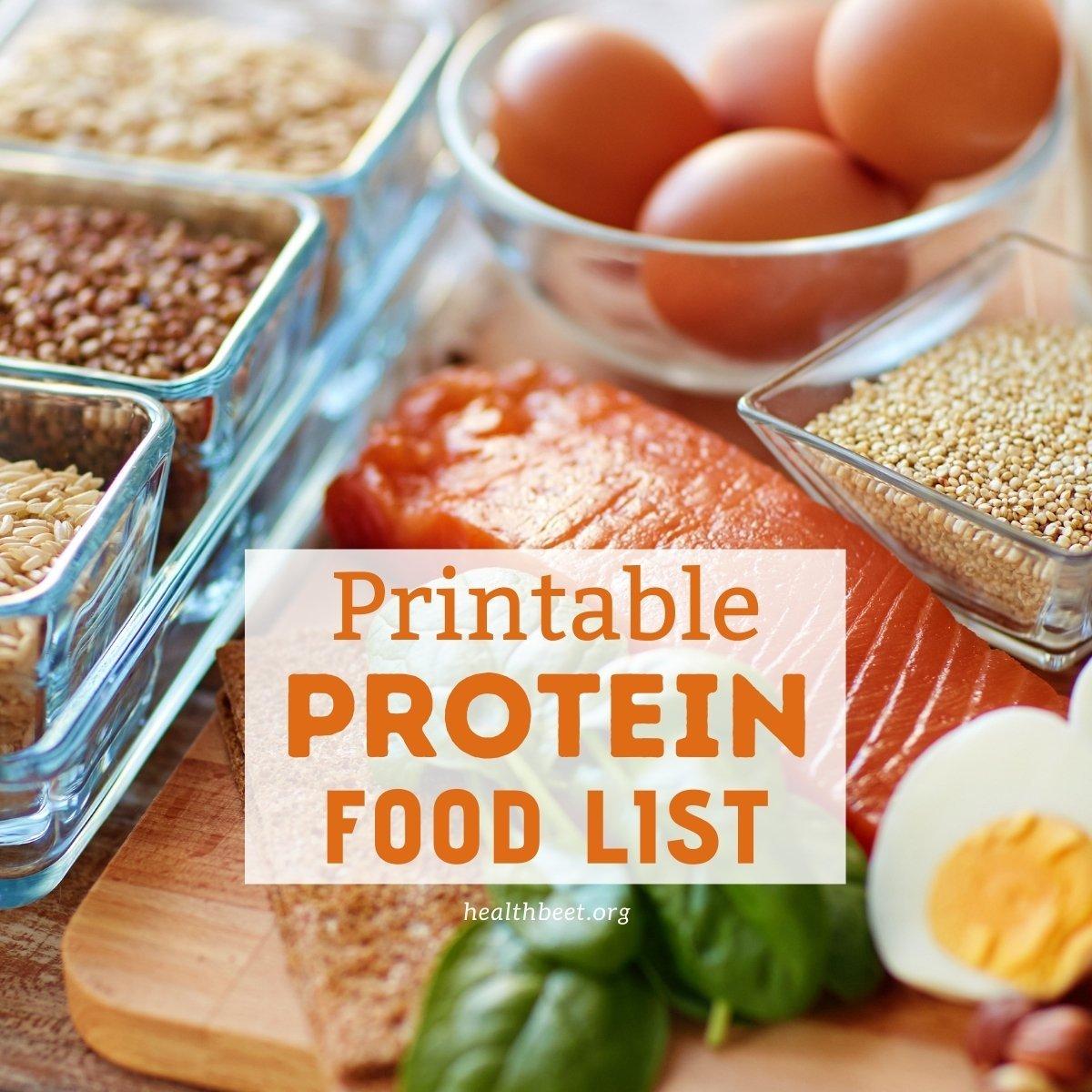 printable pdf protein food list