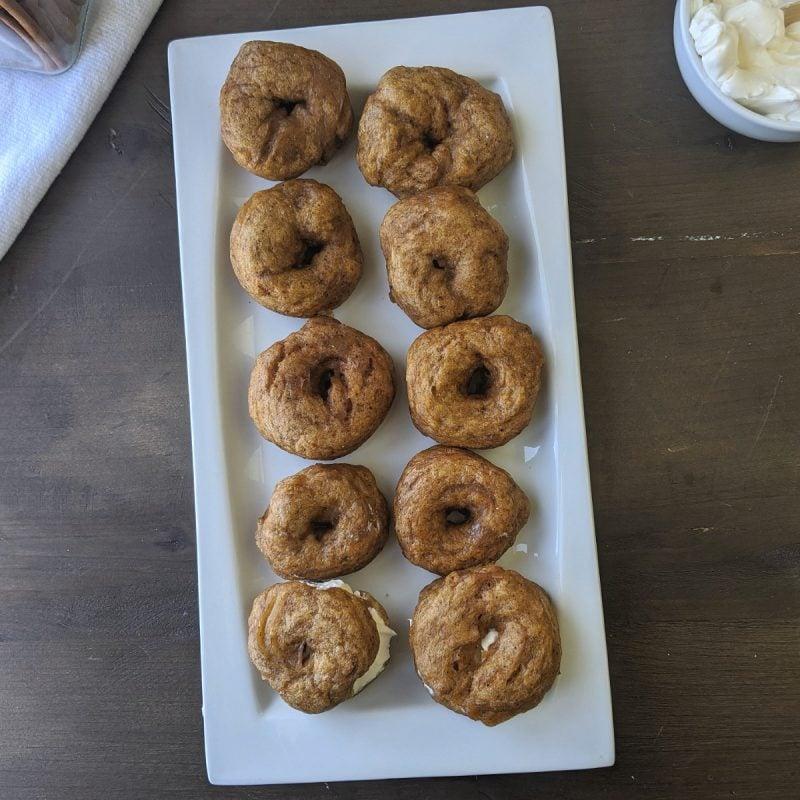 pumpkin bagels all homemade sq