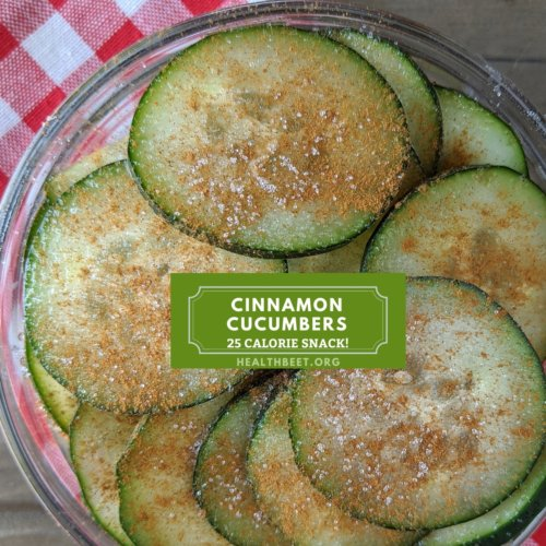 25 calorie cinnamon cucumbers for snacking
