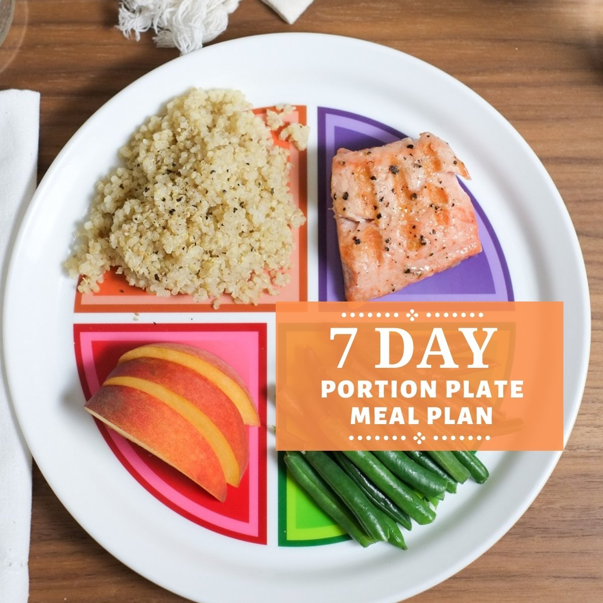 7 day portion plate healthy meal plan