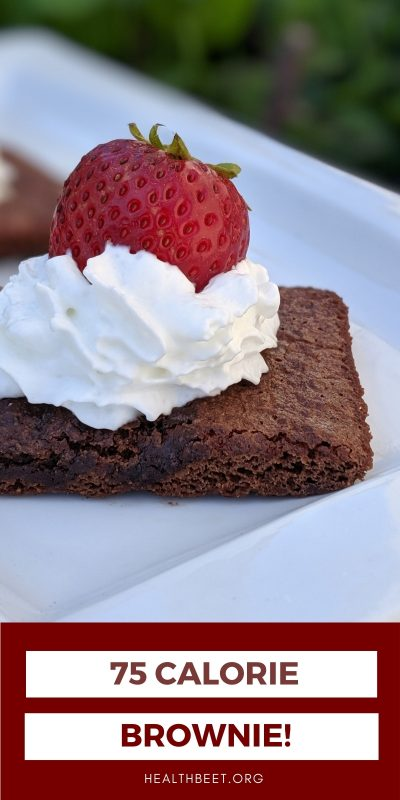 75 CALORIE BROWNIE MADE IN THE TOASTER OVEN