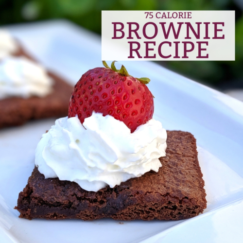 75 calorie brownie recipe thumbnail