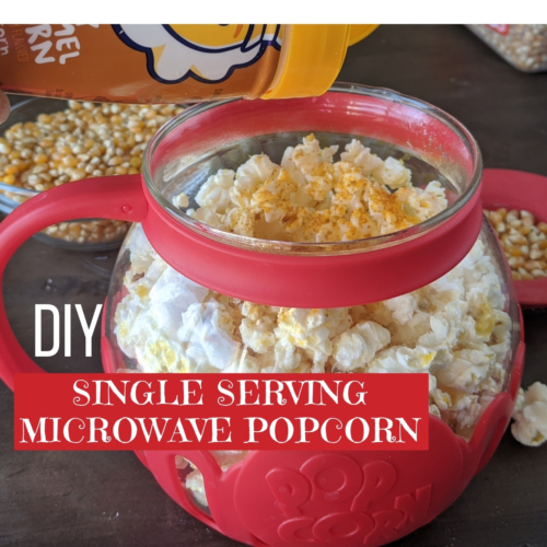 DIY microwave popcorn for one