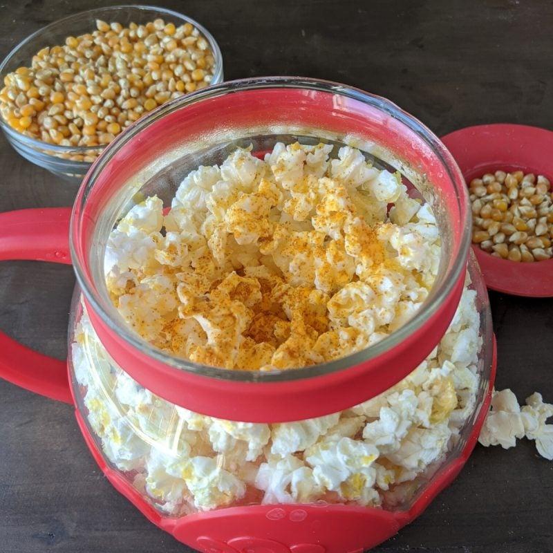 Healthy homemade Single serving microwave popcorn