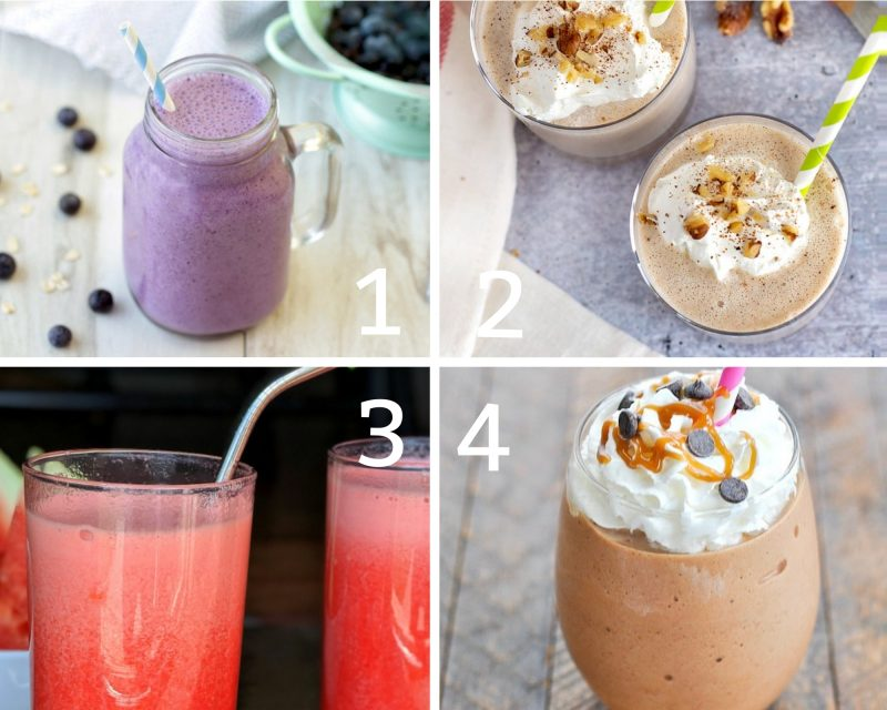 Low calorie fruit smoothies 1-4