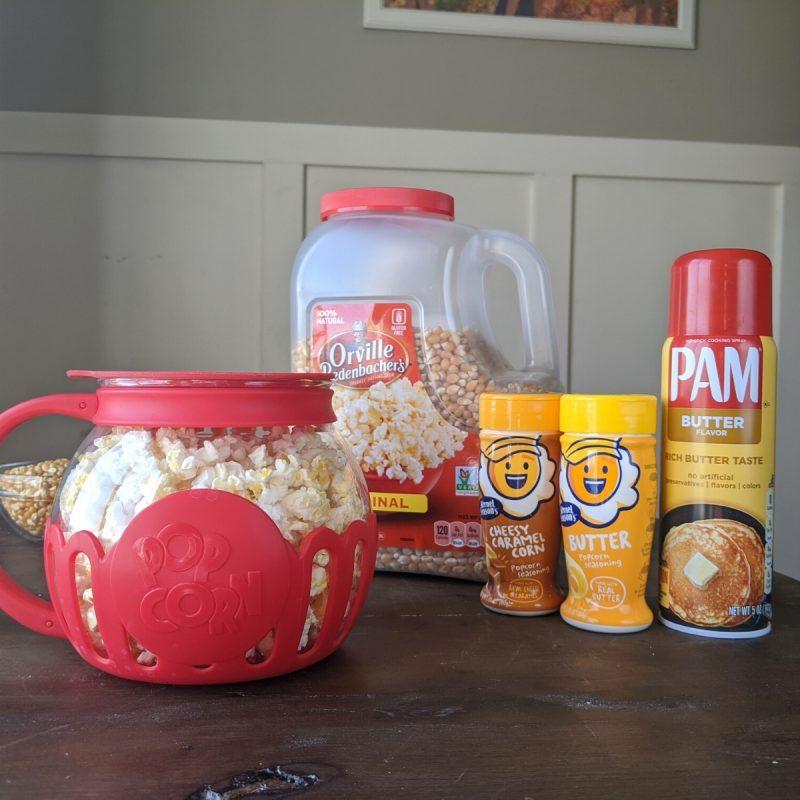 Making microwave popcorn with kernel seasonings