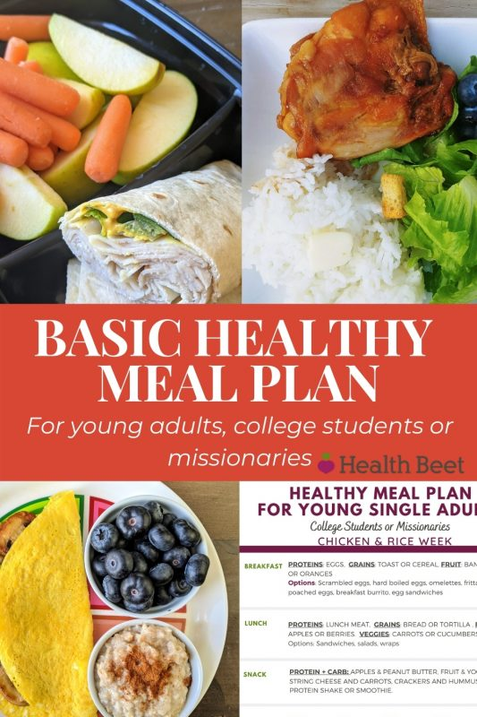 basic healthy meal plan for young adults
