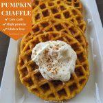 Best Pumpkin Chaffle {Low carb breakfast}
