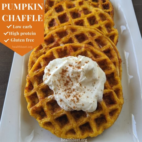 low carb high protein gluten free pumpkin chaffle