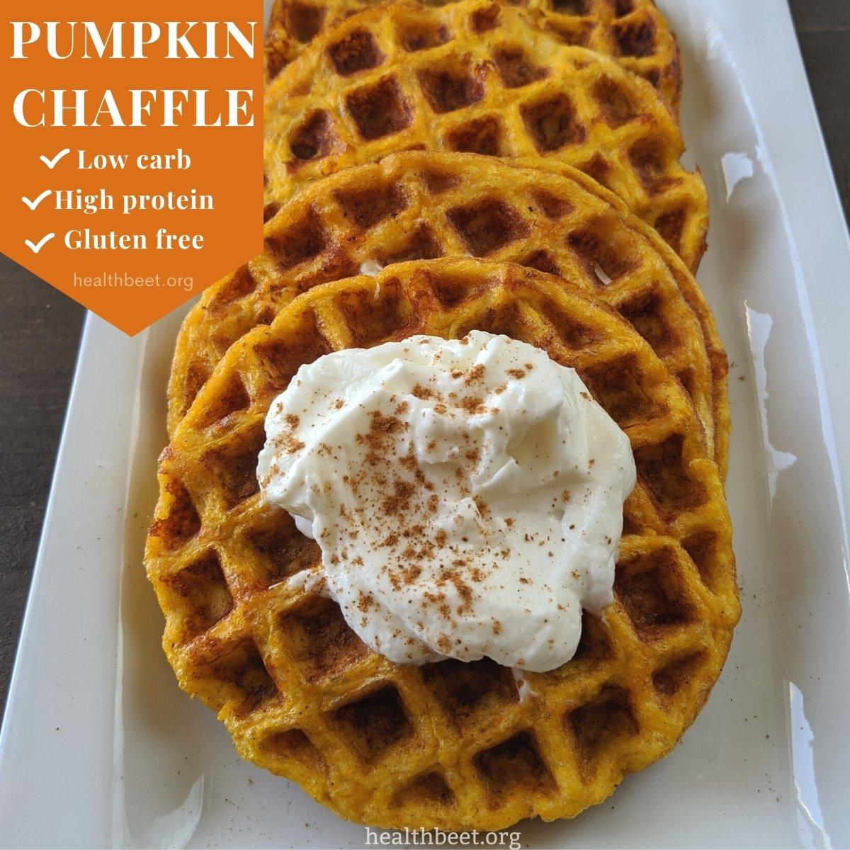 low carb high protein gluten free pumpkin chaffle